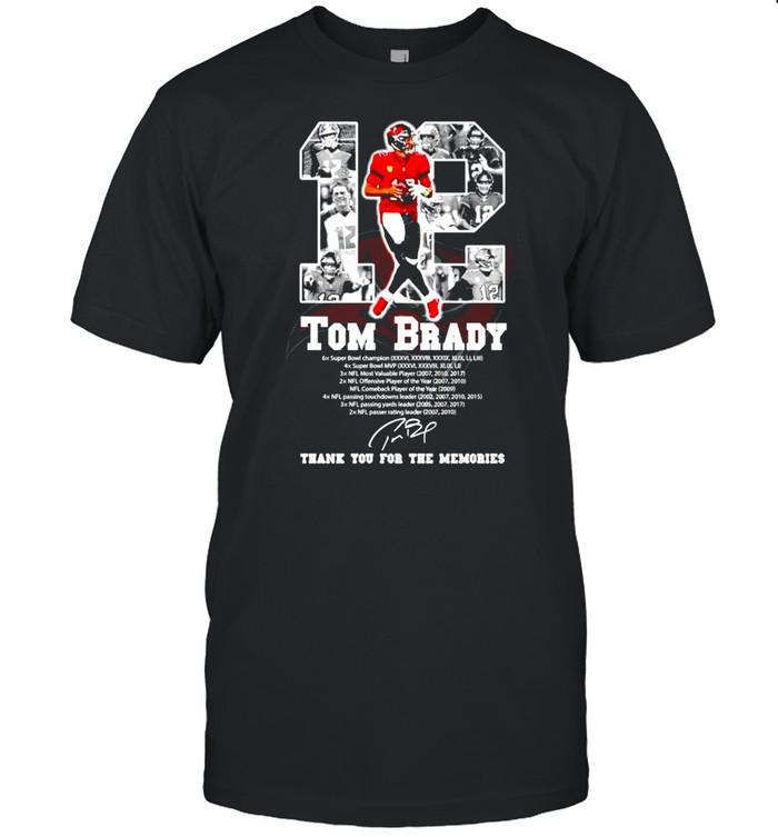 12 Tom Brady Tampa Bay Buccaneers signature shirt