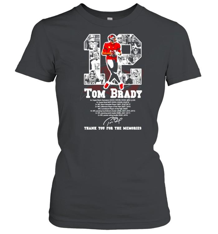 12 Tom Brady Tampa Bay Buccaneers signature shirt Classic Women's T-shirt