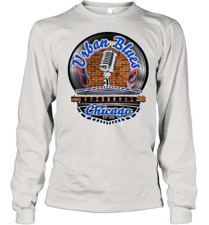 Urban Blues Chicago EST.1936 Sing Club shirt Long Sleeved T-shirt