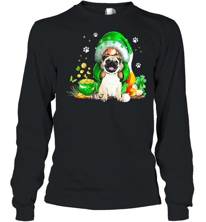 The Gnome hug Pug st patricks day shirt Long Sleeved T-shirt