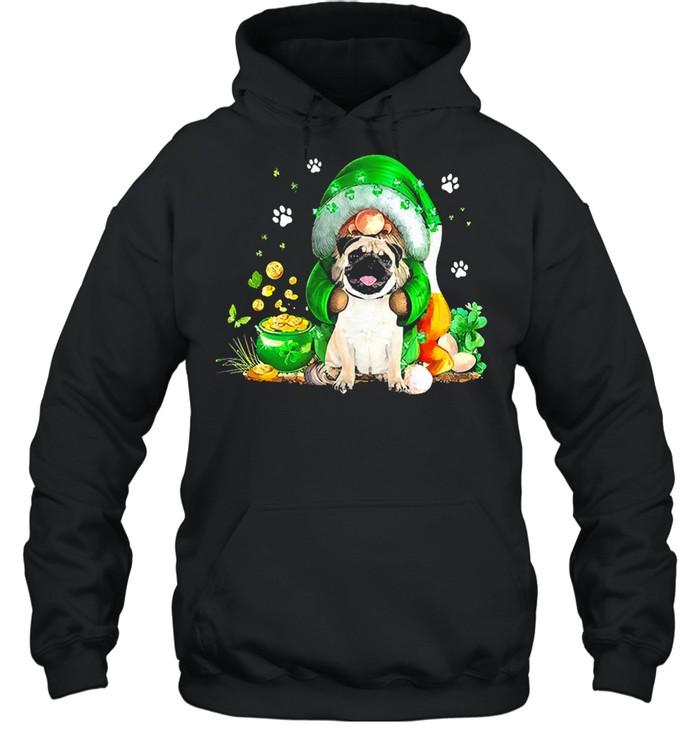 The Gnome hug Pug st patricks day shirt Unisex Hoodie