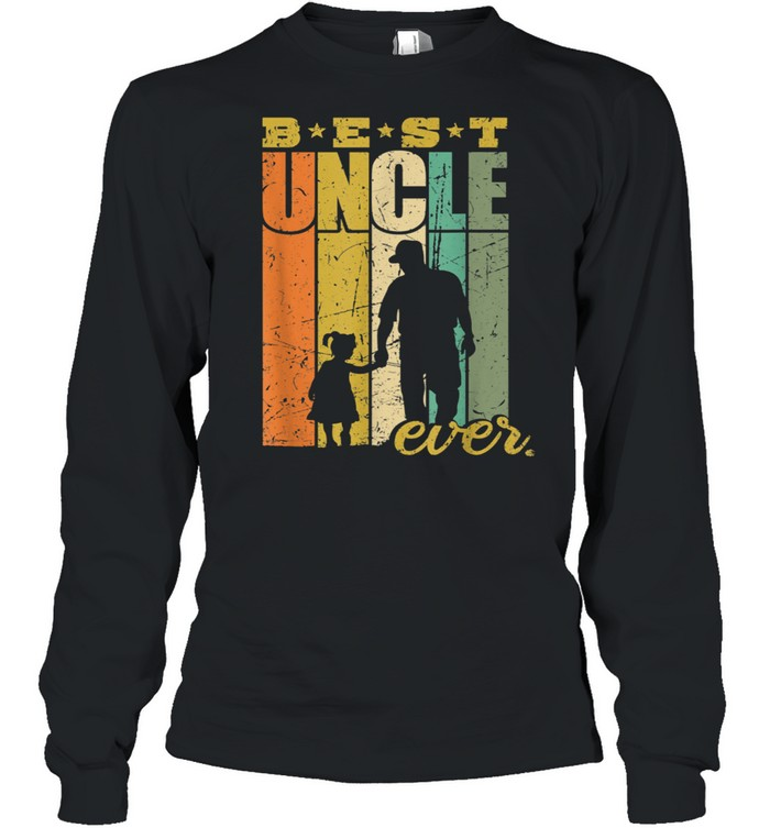 Best Uncle Ever Uncle and niece shirt Long Sleeved T-shirt