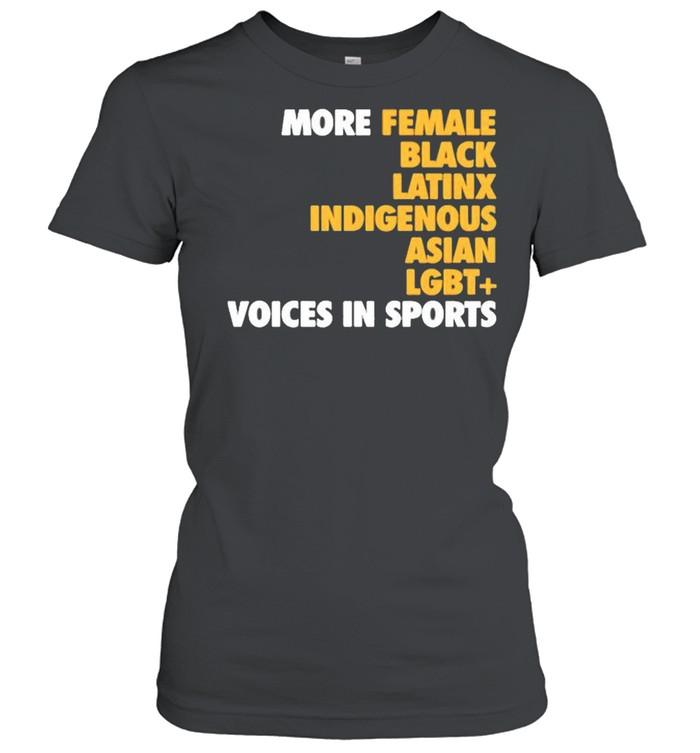 Megan reyes megreyes more diverse voices in sports shirt Classic Women's T-shirt