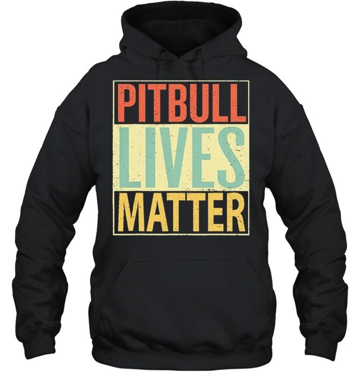 Pitbull Lives Matter Vintage shirt Unisex Hoodie