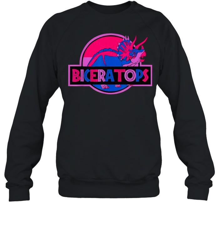Biceratops Bisexual Ceratops Dinosaur LGBT Pride Month shirt Unisex Sweatshirt
