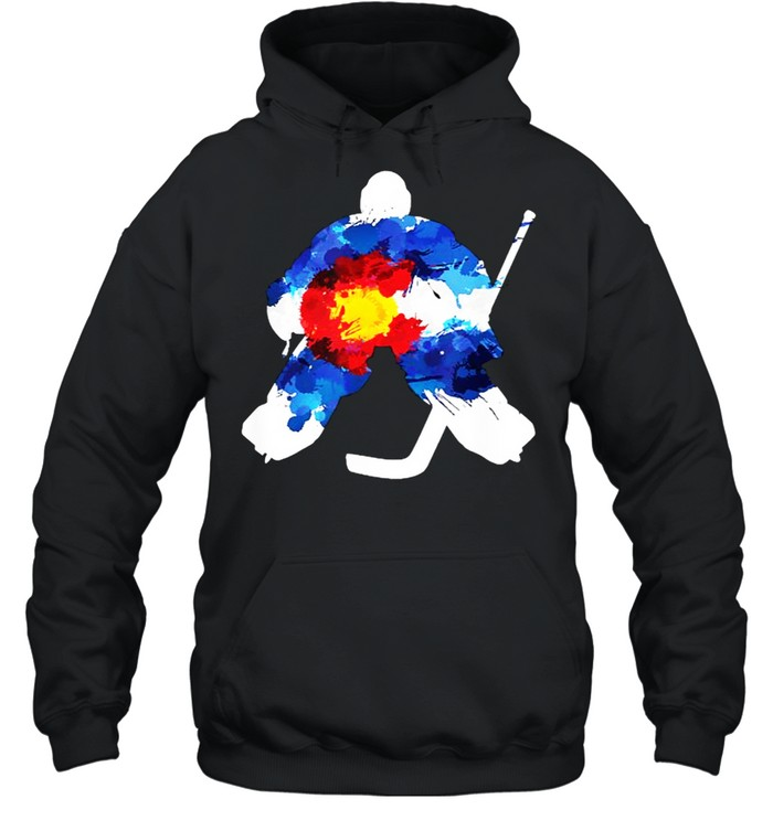 Colorado Hockey Goalie Watercolor T- Unisex Hoodie