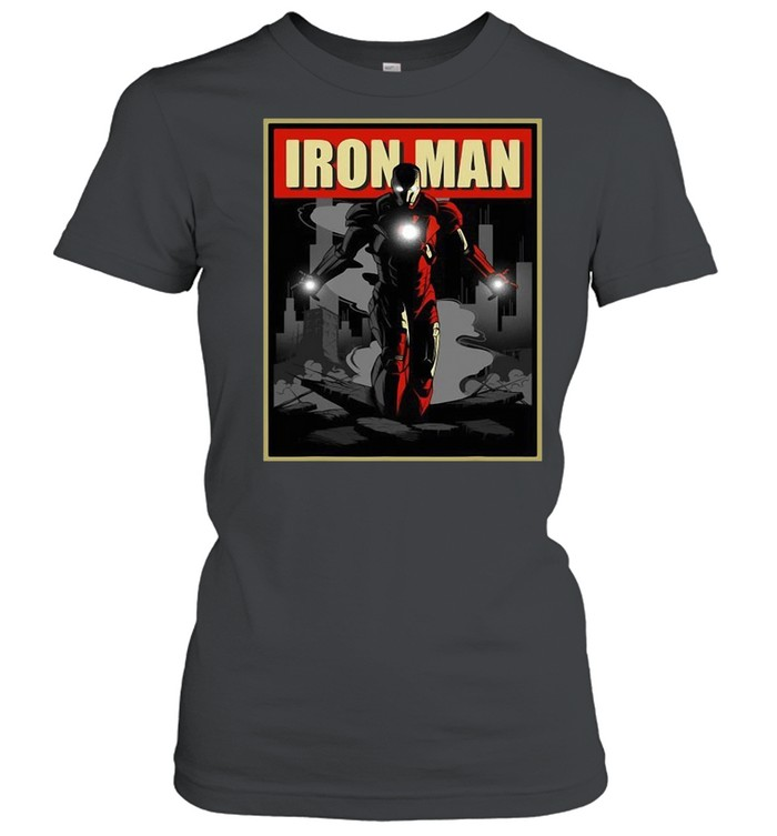 Marvel Iron Man Rise From The Ashes Deco Style T-shirt Classic Women's T-shirt