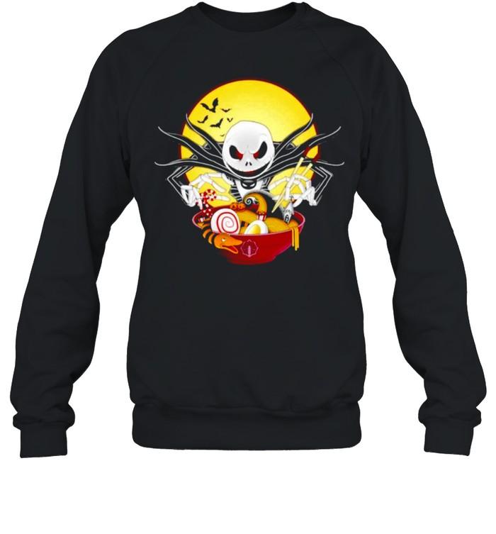 Jack Skellington spooky ramen shirt Unisex Sweatshirt