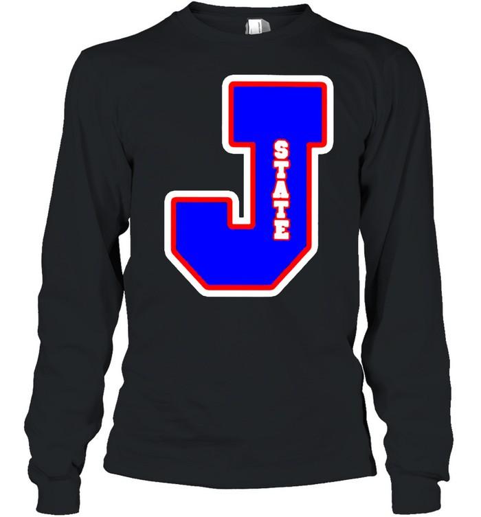 Jackson State Tigers J state letterman shirt Long Sleeved T-shirt