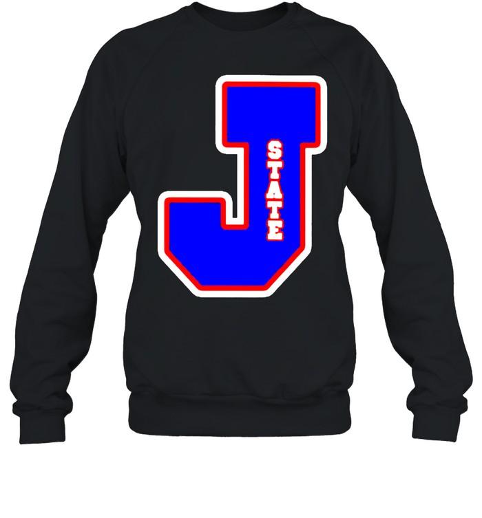 Jackson State Tigers J state letterman shirt Unisex Sweatshirt