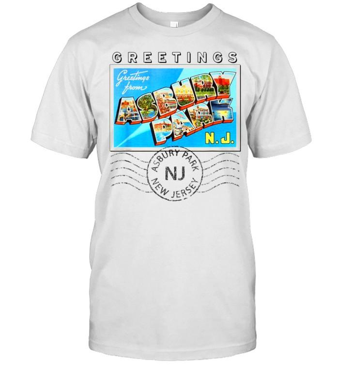 Asbury Park New Jersey NJ Postmarked Large Letter Postcard shirt