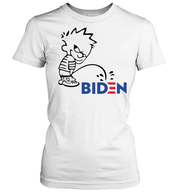 Calvin Peeing On Biden Harris  Classic Women's T-shirt