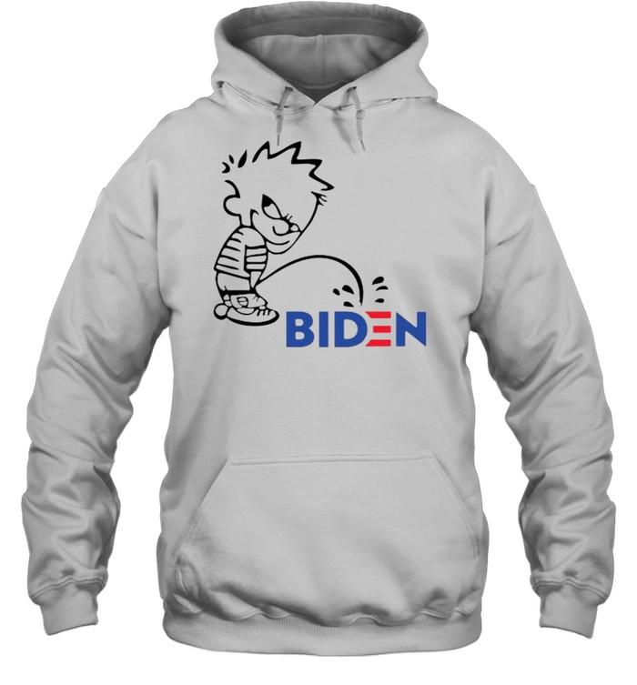 Calvin Peeing On Biden Harris  Unisex Hoodie