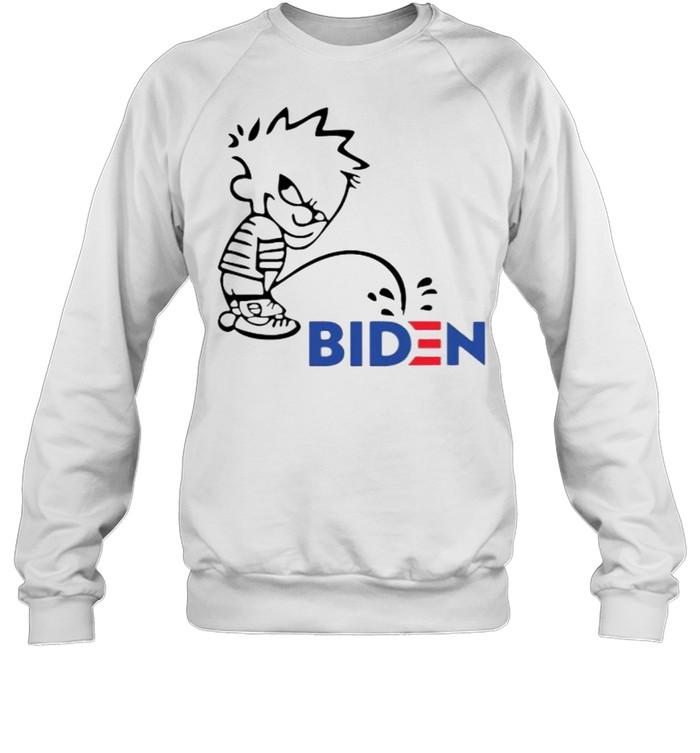 Calvin Peeing On Biden Harris  Unisex Sweatshirt
