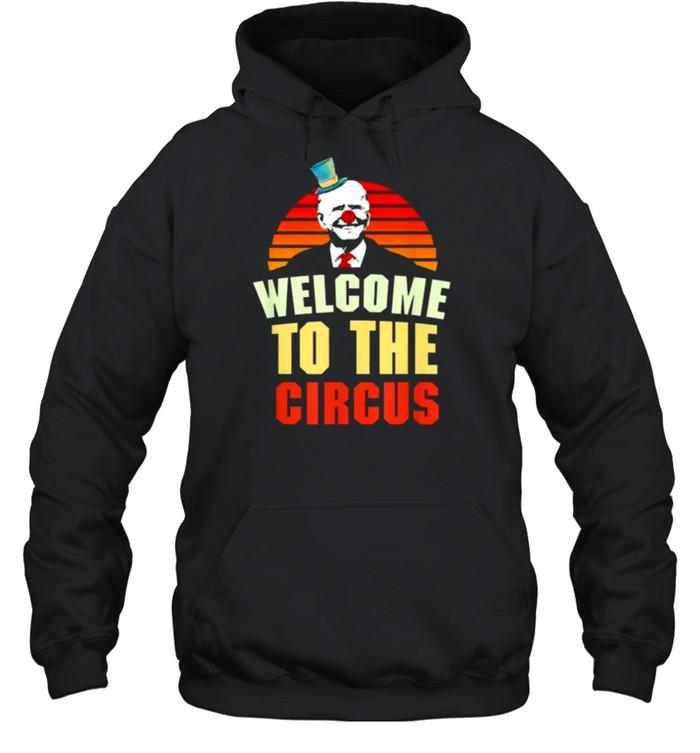 Joe Biden welcome to the circus vintage shirt Unisex Hoodie