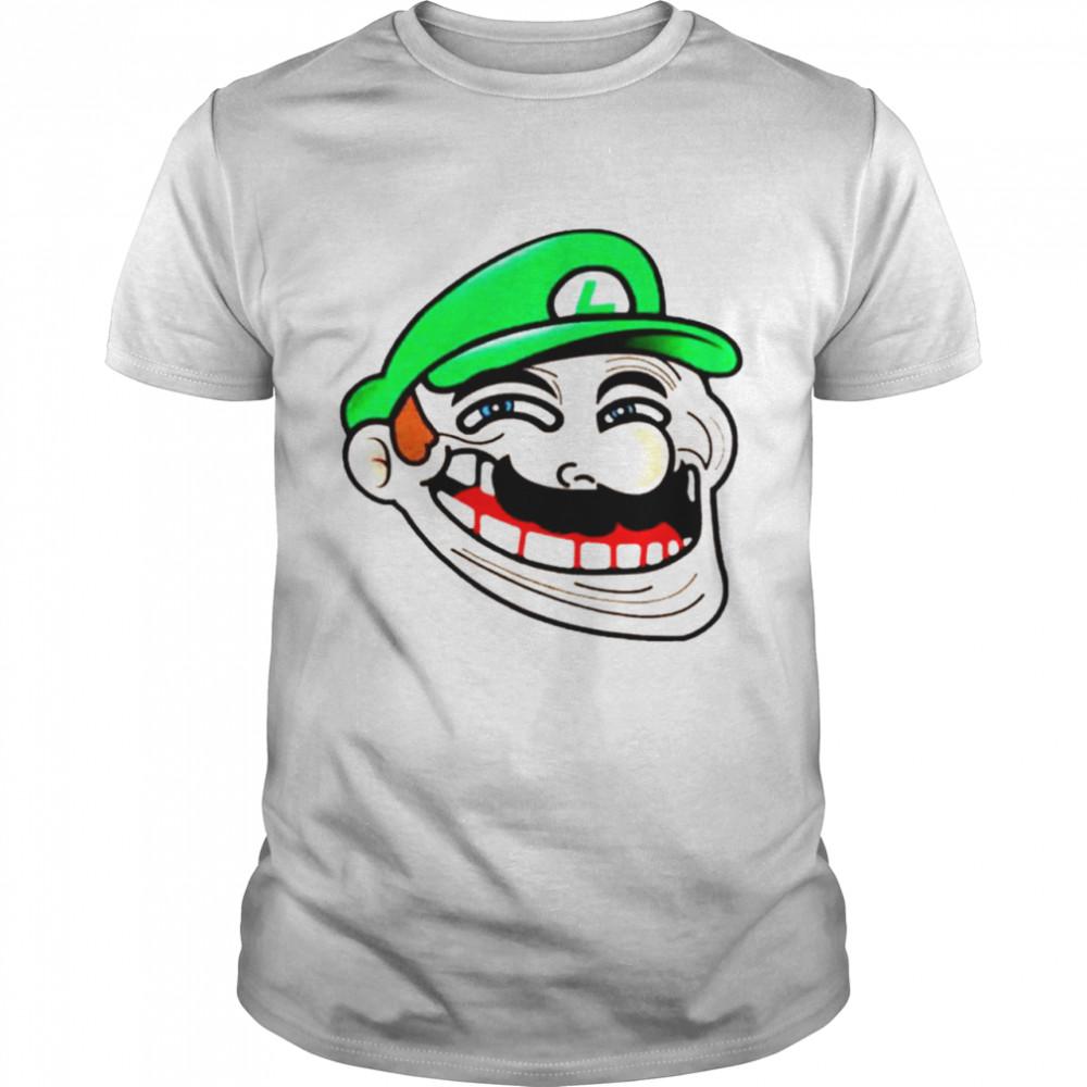 Awesome luigi Super Mario Meme shirt