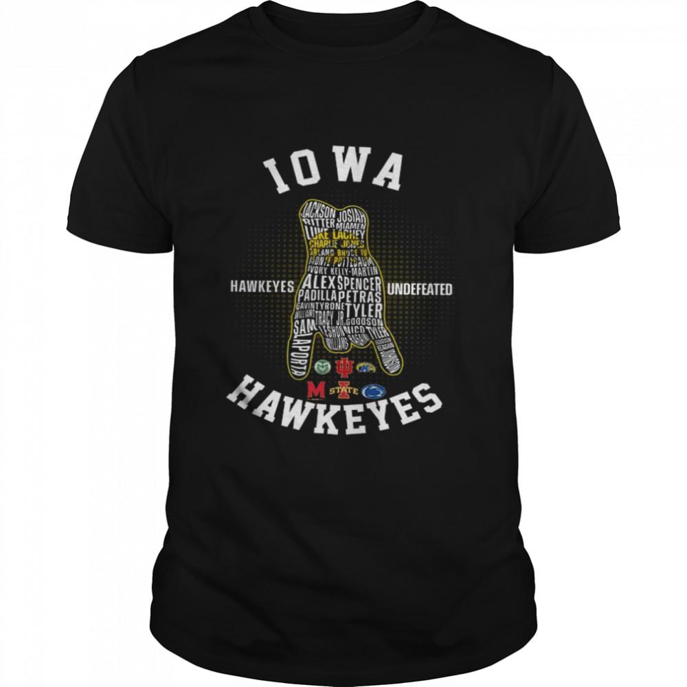 Iowa Hawkeyes Undefeated Hawkeyes Shirt